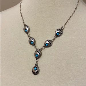 Authentic claw Native American silver turquoise